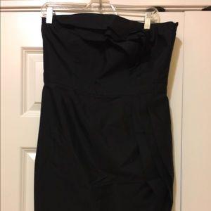 Ann Taylor black strapless dress size 8